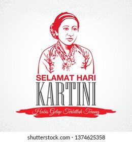 April 21, vector illustration Selamat hari Kartini, Kartini Day. Translation: April 21 Kartini Day in Indonesia happy holiday. graphic for design element