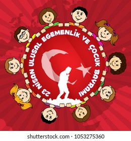 April 23 National Sovereignty and Children's Holiday, vector design