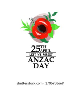 April 25. Happy Anzac Day Vector Illustration. Suitable for greeting card, poster and banner