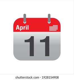 April Calendar Icon design vector