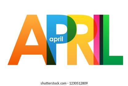 APRIL colorful letters banner