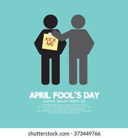April Foolâ??s Day Concept Symbol Vector Illustration