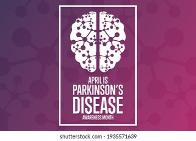 April is Parkinson's Disease Awareness Month. Holiday concept. Template for background, banner, card, poster with text inscription. Vector EPS10 illustration