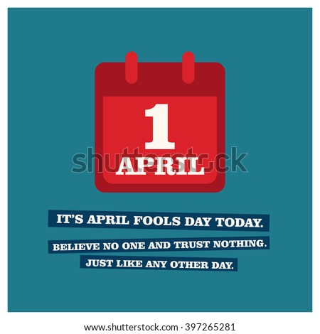 April First Fools Day Funny Quote Stock Vector Royalty Free