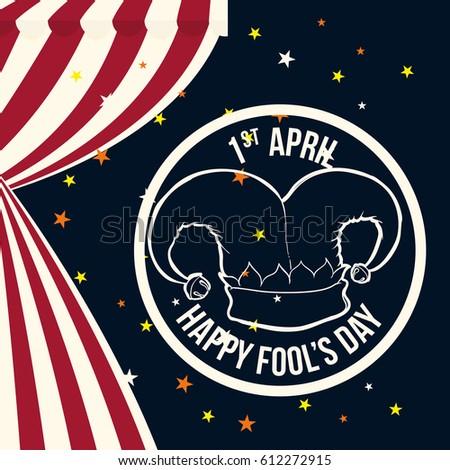April Fools Day Hat Joker Symbol Stock Vector (Royalty Free