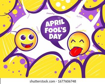 April Fool's Day Smile Illustration