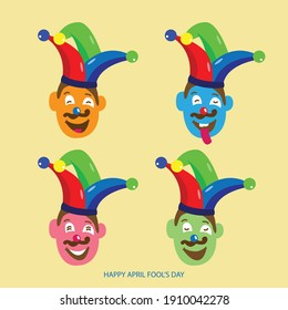 April fool's day vector Illustration