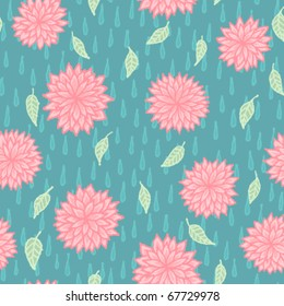 April Showers Bring May Flowers seamless pattern