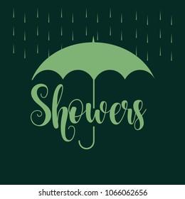 April Showers Vector Template Design Illustration