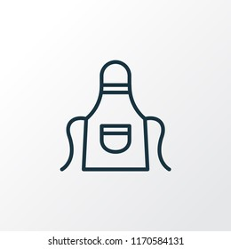 Apron icon line symbol. Premium quality isolated uniform element in trendy style.