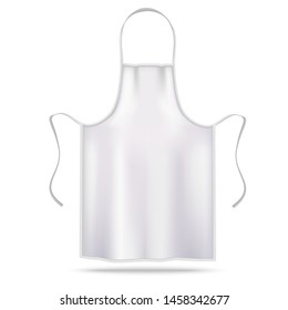Apron Mockup. Apron Uniform in Realistic Style for Branding Advertising Logo Presentation Banners Fliers. Vector Illustration