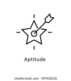 Aptitude Vector Line Icon