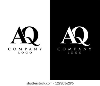 aq/qa modern initial logo design vector, with white and black color that can be used for any creative business.