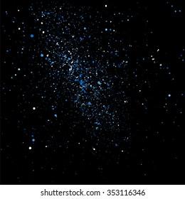 Aqua blue glitter texture vector on a black background.