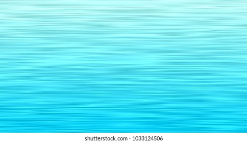 Aqua Blue Ocean Waves Vector Background. Turquoise Gradient Stripes Texture. Sea Horizon Backdrop. Hatching Strokes Surface.