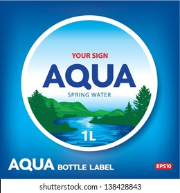 Aqua bottle label