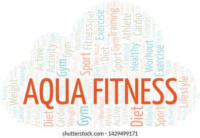 Aqua Fitness word cloud. Wordcloud made with text only.