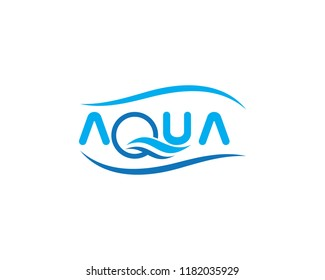 Aqua ,Water Wave symbol and icon Logo Template vector