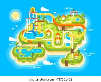 Aquapark plan flat