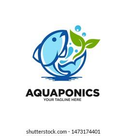 Aquaponics Logo Stock Vector Template