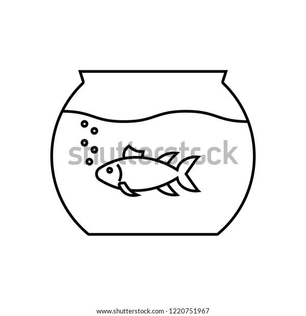 Aquarium Linear Icon Thin Line Illustration Stock Vector Royalty Free 1220751967