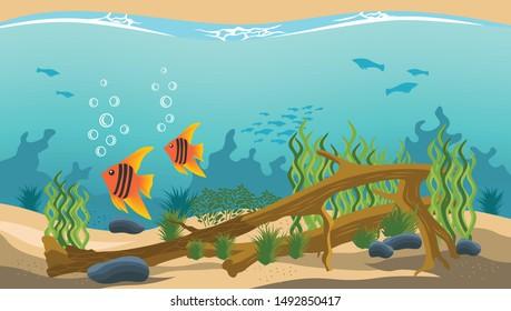 Aquarium Cartoon Images Stock Photos Vectors Shutterstock