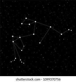 Aquarius constellation design