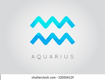 Aquarius Constellation. Detailed Stylish Zodiac Icon. Modern Style Drawing. Vector Illustration.