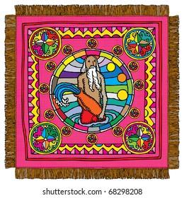 Aquarius horoscope sign carpet