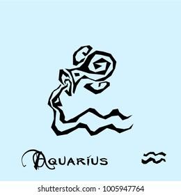 Aquarius Zodiac Sign Tattoo art