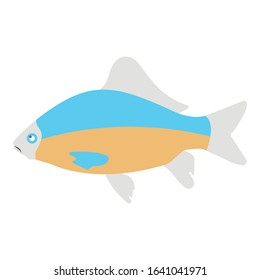 Aquatic fish, fish Color Vector Icon which can be easily modified or edited