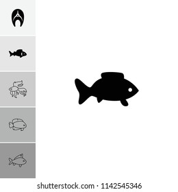 Aquatic icon. collection of 6 aquatic filled and outline icons such as . editable aquatic icons for web and mobile.