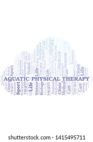Aquatic Physical Therapy word cloud. Wordcloud made with text only.