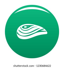 Aquatic shell icon. Simple illustration of aquatic shell vector icon for any design green