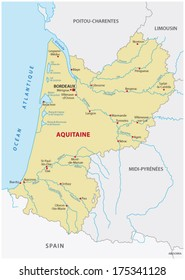 aquitaine map
