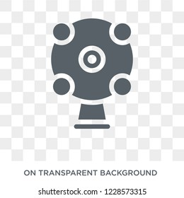 Ar camera icon. Trendy flat vector Ar camera icon on transparent background from Artificial Intelligence, Future Technology collection.