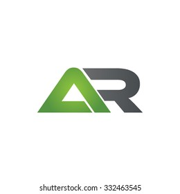 AR company linked letter logo green