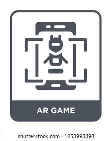 ar game icon vector on white background, ar game trendy filled icons from General collection, ar game simple element illustration