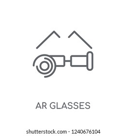 Ar glasses linear icon. Modern outline Ar glasses logo concept on white background from Artificial Intellegence and Future Technology collection.