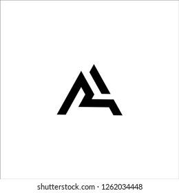 AR initial letter logo design