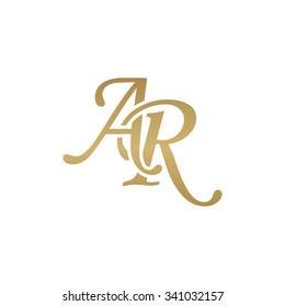 AR initial monogram logo