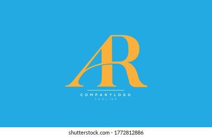 AR initials monogram logo design