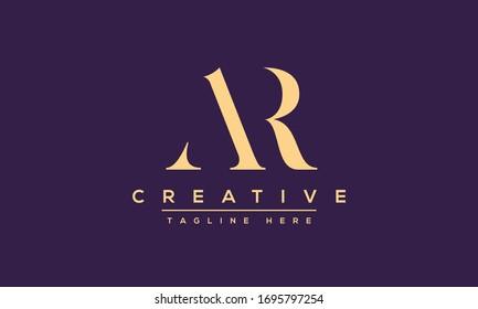 AR Letter Logo Design. Creative Modern Alphabet letters monogram icon A R, A and R.