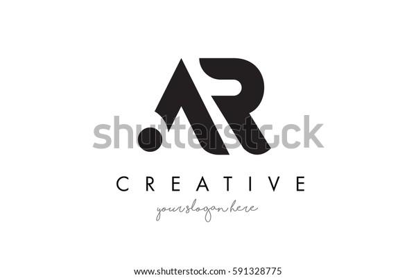 Ar Letter Logo Design Creative Modern Stock Vector (Royalty
