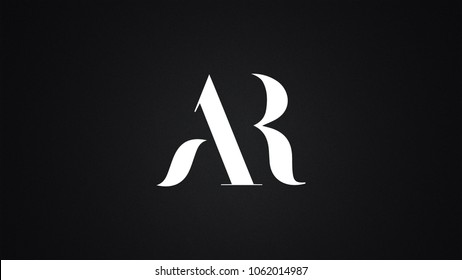 AR letter Logo Design Template Vector