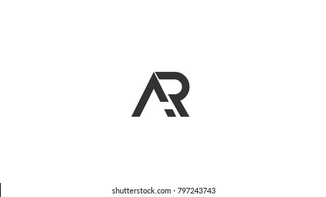 AR logo abstract RA letter logo