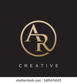 ar logo design vector icon symbol