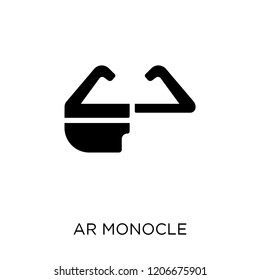 Ar monocle icon. Ar monocle symbol design from Artificial Intellegence collection.