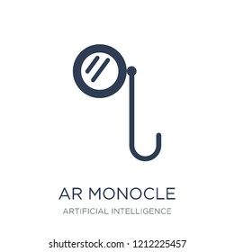 Ar monocle icon. Trendy flat vector Ar monocle icon on white background from Artificial Intelligence, Future Technology collection, vector illustration can be use for web and mobile, eps10