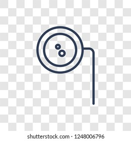 Ar monocle icon. Trendy linear Ar monocle logo concept on transparent background from Artificial Intellegence and Future Technology collection